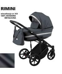 Коляска 2 в 1 Adamex Rimini ECO кожа 100% RI-253