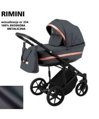 Коляска 2 в 1 Adamex Rimini ECO кожа 100% RI-254