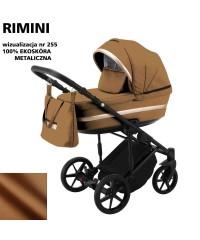 Коляска 2 в 1 Adamex Rimini ECO кожа 100% RI-255