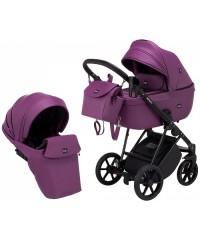 Коляска 2 в 1  Bair Infinitiy кожа 100% purple (фиолетовый)