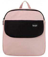 Коляска 2 в 1  Bair Mirello кожа 100% М-02 светло-розовый (пудра) - черный