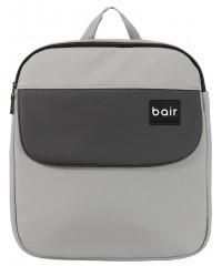 Коляска 2 в 1  Bair Mirello кожа 100% М-32/30 серый - черный