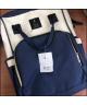 Сумка рюкзак для мам LeQueen синий с бежевым