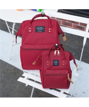Комплект сумка рюкзак для мам+ребенок Anello красный