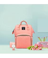 Сумка рюкзак для мам LeQueen персик