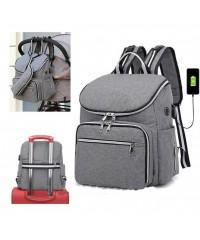 Сумка рюкзак для мам LeQueen  GRAY