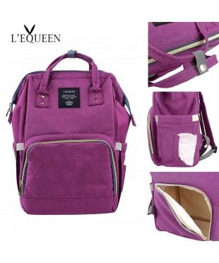 Сумка рюкзак для мам LeQueen фиолет