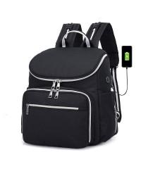 Сумка рюкзак для мам LeQueen BLACK
