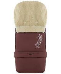 Конверт зимний на овчине удлиненный Babyroom №20  в коляску и санки Шоколад