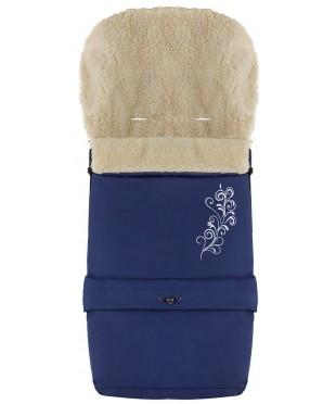 Конверт зимний на овчине удлиненный Babyroom №20  в коляску и санки Синий