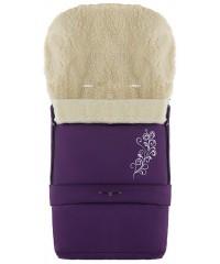 Конверт зимний на овчине удлиненный Babyroom №20  в коляску и санки Фиолетовый