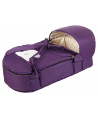 Люлька-переноска Babyroom BLA-056 с твердым дном Фиолетовая с Мишкой