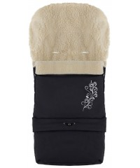 Конверт зимний на овчине удлиненный Babyroom №20  в коляску и санки Черный