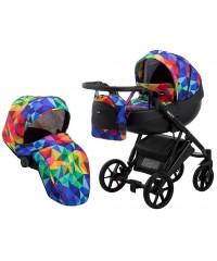 Коляска 2 в 1 Bair Next Soft 24 разноцветный (калейдоскоп)