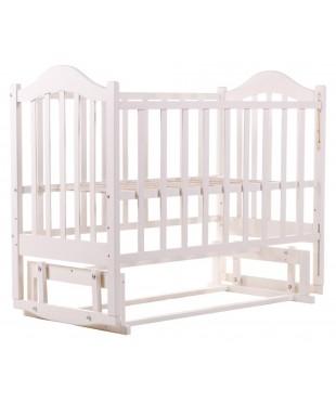 Детская кровать Babyroom Дина D201 маятник белая