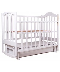 Детская кровать Babyroom Дина D101 маятник белая