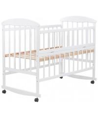 Детская кровать Наталка белая, откидной бок