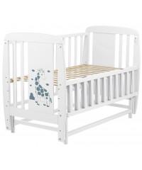 Кровать Babyroom Жирафик DJMO-02 , маятник, откидной бок белый