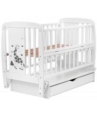 Кровать Babyroom Жирафик DJMYO-3, маятник, ящик, откидной бок белый