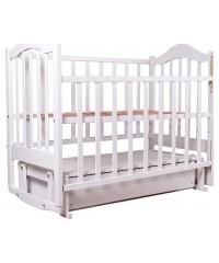 Детская кровать Babyroom Дина D301 маятник белая с ящиком