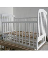 Детская кроватка  ЛАМА  маятник  ВАНИЛЬ