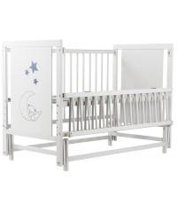 Кровать Babyroom Медвежонок M-02, маятник, откидной бок белый