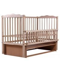Кровать Babyroom Веселка маятник, откидной бок DVMO-2 бук натуральный
