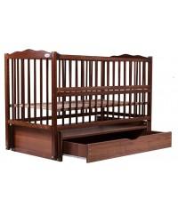 Кровать Babyroom Веселка маятник, ящик, откидной бок DVMYO-3 бук орех