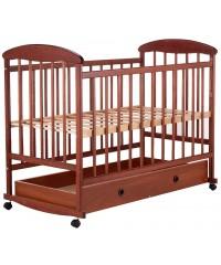 Детская кровать Наталка с ящиком темная