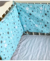 Защита для детской кроватки, Звездочка бирюзовая