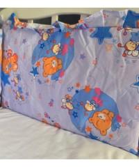 Защита для детской кроватки, Мишки и пчелки Синяя
