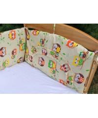 Защита для детской кроватки, Совушки на бежевом