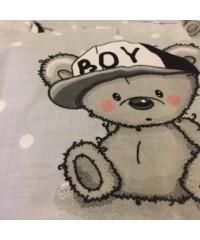 Защита для детской кроватки, Я мальчик It's a boy серая