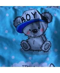 Защита для детской кроватки, Я мальчик It's a boy голубая