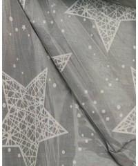 Детский постельный комплект  Звезды на сером
