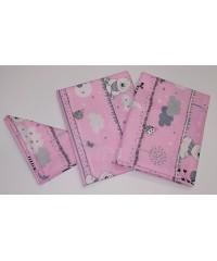 Детский постельный комплект  Зверята на розовом