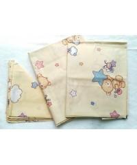 Детский постельный комплект Мишки на облаке