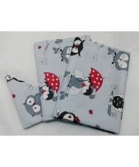 Детский постельный комплект  Совушки с зонтом
