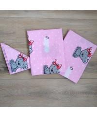 Детский постельный комплект  IT'S A GIRL (это девочка) на розовом