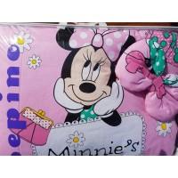 Детский постельный комплект  без балдахина Минни Маус