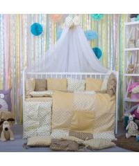 Детский постельный комплект Плюш-подушки беж