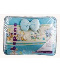 Детский постельный комплект  Улыбка (8 эл) синий