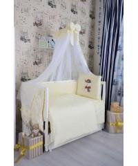 Детский постельный комплект  Мишка в кепке