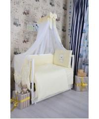 Детский постельный комплект  Мишка белый