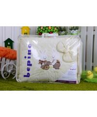Детский постельный комплект  Зайчики с тележкой