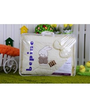 Детский постельный комплект Зайчик с сумочкой