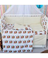 Детский постельный комплект Лисенок-пилот
