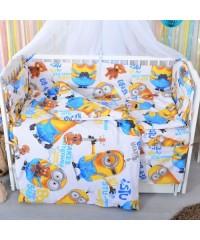 Детский постельный комплект Миньоны (8 эл)