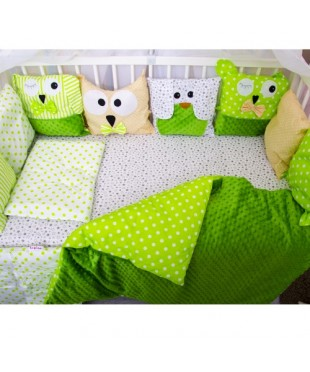 Детский постельный комплект Персонажи салат