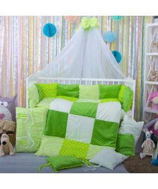 Детский постельный комплект Плюш-подушки салат
